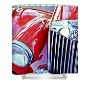 1955 Mg Tf 1500 Grille Shower Curtain