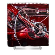 1955 Oldsmobile Dash Shower Curtain