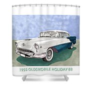 1955 Oldsmobile Holiday 88 Shower Curtain