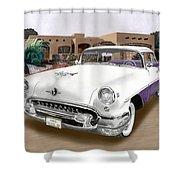 1955 Oldsmobile Super 88 Shower Curtain