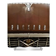 1955 Packard 400 Hood Ornament Shower Curtain