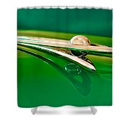 1955 Packard Clipper Hood Ornament 3 Shower Curtain