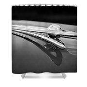 1955 Packard Clipper Hood Ornament 5 Shower Curtain