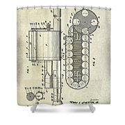 1955 Rocket Launcher Patent Drawing Shower Curtain
