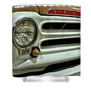 1955 Studebaker Headlight Grill Shower Curtain
