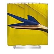 1955 Studebaker President Starlighter Hood Ornament Shower Curtain
