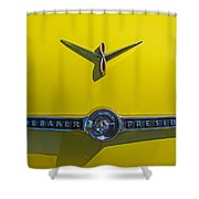 1955 Studebaker Starliner Emblem Shower Curtain
