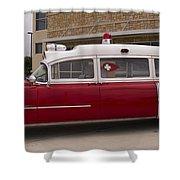 1955 Superior Cadillac Passenger Ambulance Shower Curtain