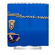 1956 Alfa Romeo Sprint Veloce Coupe Emblem Shower Curtain