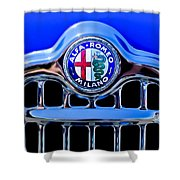 1956 Alfa Romeo Sprint Veloce Coupe Ultra Light Grille Emblem Shower Curtain