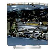 1956 Austin Healey Engine Shower Curtain