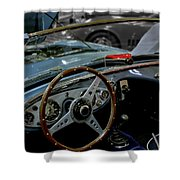 1956 Austin Healey Interior Shower Curtain