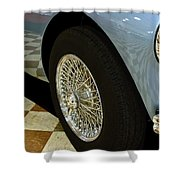 1956 Austin Healey Wheel Shower Curtain