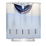 1956 Buick Special Hood Ornament Shower Curtain