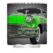 1956 Buick Special Riviera Coupe-green Shower Curtain