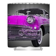 1956 Buick Special Riviera Coupe-purple Shower Curtain