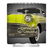 1956 Buick Special Riviera Coupe-yellow Shower Curtain