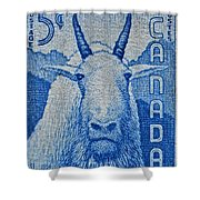1956 Canada Mountain Goat Stamp Shower Curtain