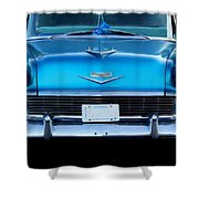 1956 Cheverolet In Blue Shower Curtain