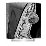 1956 Chevrolet 210 2-door Handyman Wagon Taillight -090bw Shower Curtain