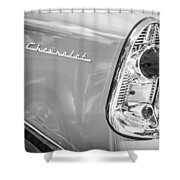 1956 Chevrolet 210 2-door Handyman Wagon Taillight Emblem -074bw Shower Curtain