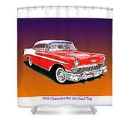 1956 Chevrolet Bel Air Ht Shower Curtain