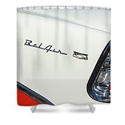 1956 Chevrolet Belair Coupe Taillight Shower Curtain