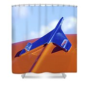 1956 Chevrolet Belair Hood Ornament Shower Curtain