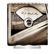 1956 Chevrolet Belair Nomad Dashboard Emblem Shower Curtain