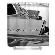 1956 Chevrolet Belair Nomad Rear End Emblem Shower Curtain