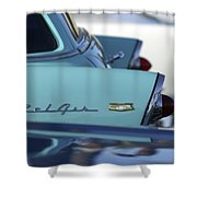 1956 Chevrolet Belair Nomad Rear End Shower Curtain