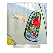 1956 Chevrolet Beliar Nomad Taillight Emblem Shower Curtain