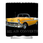 1956 Chevy Bel Air Convertible Shower Curtain