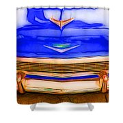 1956 Chevy - Blue Shower Curtain