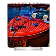 1956 Chris-craft Capri Classic Runabout Shower Curtain