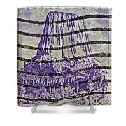 1956 Devils Tower National Monument Stamp Shower Curtain