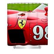 1956 Ferrari 410 Sport Scaglietti Spyder Shower Curtain