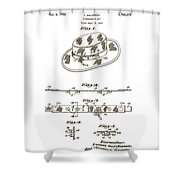1956 Fisherman's Hat Patent Shower Curtain