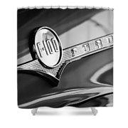 1956 Ford F-100 Pickup Truck Emblem Shower Curtain
