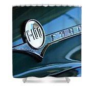1956 Ford F-100 Truck Emblem Shower Curtain