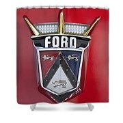 1956 Ford Fairlane Emblem Shower Curtain