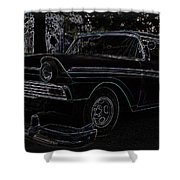 1956 Ford Neon Coupe Shower Curtain