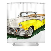 Ford Sunliner Convertible Shower Curtain
