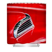 1956 Ford Thunderbird Hood Scoop -287c Shower Curtain