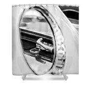 1956 Ford Thunderbird Latch -417bw Shower Curtain