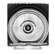 1956 Ford Thunderbird Spare Tire Emblem Shower Curtain