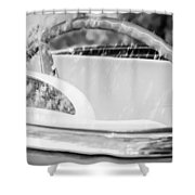 1956 Ford Thunderbird Steering Wheel -402bw Shower Curtain