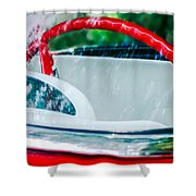 1956 Ford Thunderbird Steering Wheel -402c Shower Curtain