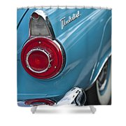 1956 Ford Thunderbird Taillight And Emblem Shower Curtain
