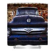 1956 Ford V8 Shower Curtain